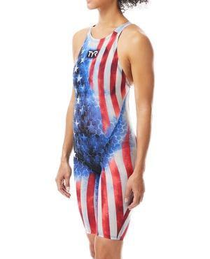 TYR Women's Avictor® Supernova USA Closed Back Swimsuit