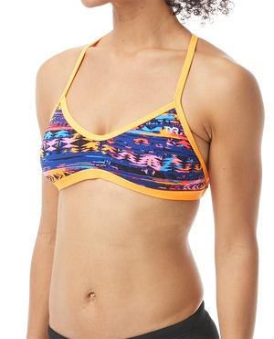 TYR Women's Kiowa Crosscut Tieback Top Swimsuit