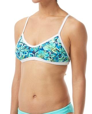TYR Women's Malibu Crosscut Tieback Top Swimsuit