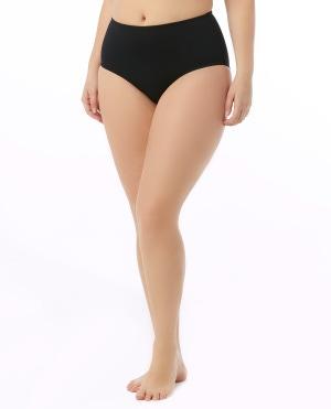 Women's Plus Size Solid High Waist Swim Bottom