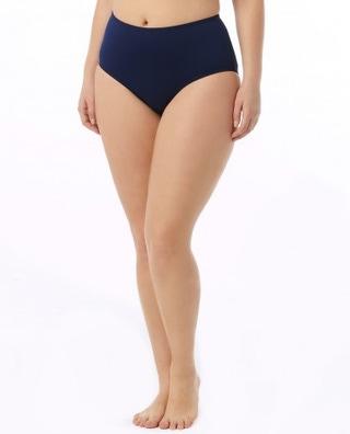 Women's Solid High Waist Swim Bottom