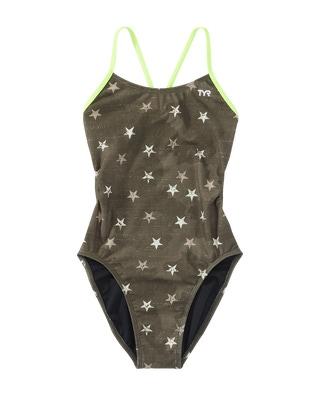 TYR Girls' Stargazed Cutoutfit Swimsuit