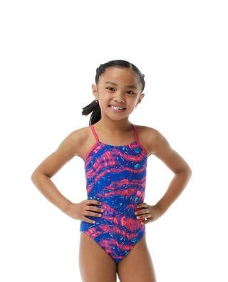 TYRxSimone Girls' Ablaze Cutoutfit Swimsuit