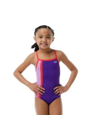 TYRxSimone Girls' Oasis Diamondfit Swimsuit