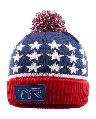 TYR Unisex USA Beanie Hat