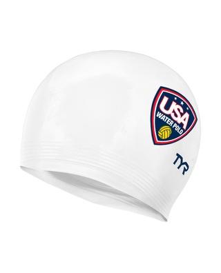 TYR USA Water Polo Latex Adult Swim Cap