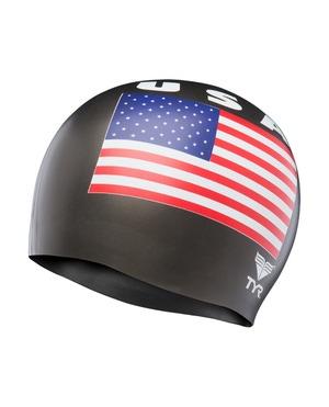 TYR USA Latex Adult Swim Cap