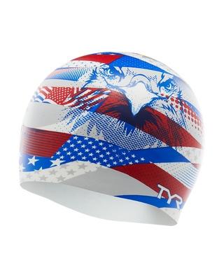 TYR American Eagle Silicone Swim Cap