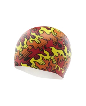 TYR Flame Silicone Adult Swim Cap