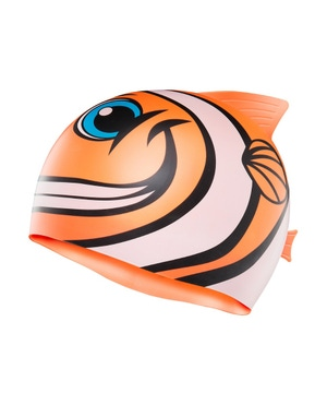 TYR CharacTYRS Happy Fish Silicone Kids' Swim Cap