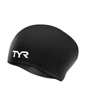 TYR Long Hair Wrinkle-Free Silicone Youth Swim Cap