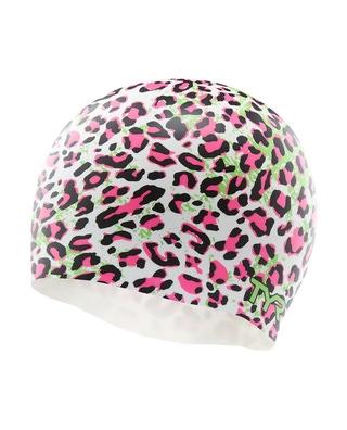 TYR Leopard Silicone Adult Swim Cap