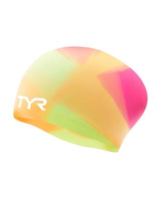 TYR Tie Dye Long Hair Silicone Youth Swim Cap