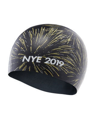 TYR 2019 New Years Silicone Adult Swim Cap