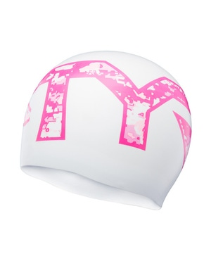 TYR Pink Silicone Adult Swim Cap