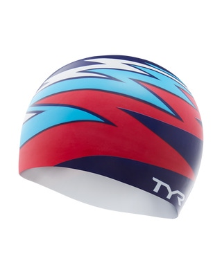 TYR Zig Zag Silicone Adult Swim Cap