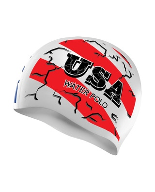 TYR Stars and Stripes Water Polo Swim Cap
