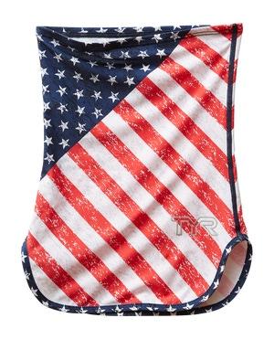 TYR Unisex SunDefense Super Soft Neck Gaiter - Americana