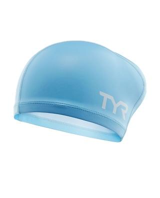 TYR Silicone Comfort Long Hair Adult Swim Cap