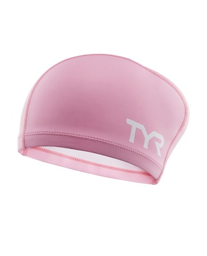 TYR Long Hair Silicone Comfort Youth Swim Cap