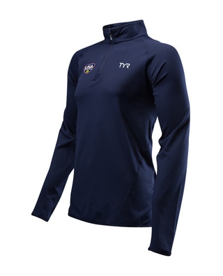 """USA Water Polo ODP Men's Long Sleeve 1/4"""" Zip Pullover"""