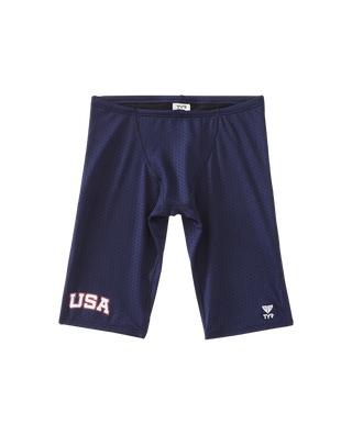 TYR Boy's Hexa USA Jammer Swimsuit