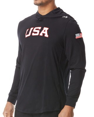 TYR Men's USA Solid Hoodie