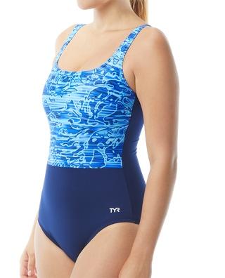 TYR Women's Lucid Scoop Neck Controlfit Swimsuit