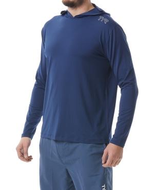 TYR Men's SunDefense Hooded Shirt