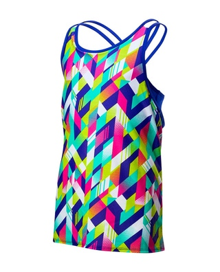 TYR Girls' Paint Party Olivia 2 in 1 Tank
