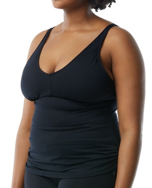 Fitness Presents For Her - TYR Women's Solid V-Neck Tankini Plus