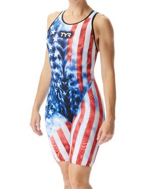 TYR Women's Venzo™ Genesis USA Closed Back Swimsuit