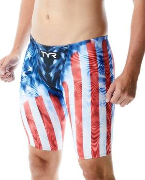 TYR Men's Venzo™ Genesis USA High Waist Jammer Swimsuit