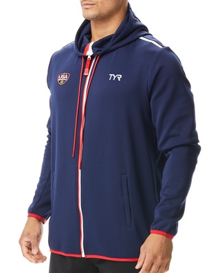 3 - 3 Required TYR Water Polo Unisex ODP Alliance Podium Full Zip Hoodie